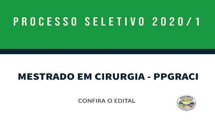Edital PPGRACI 2020/1