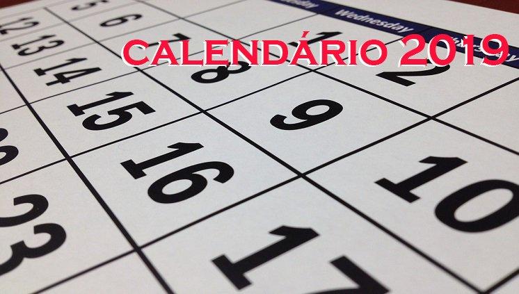 Calendário PPGRACI 2019